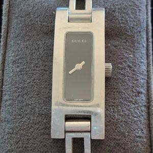 Ladies silver Gucci watch